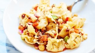 Greek Tortellini Pasta Salad Recipe - Show Me The Yummy - Episode 8