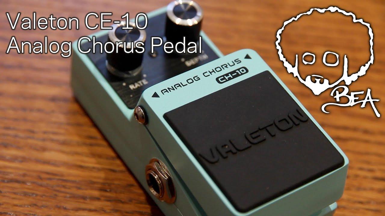 valeton ch 10 analog chorus pedal youtube