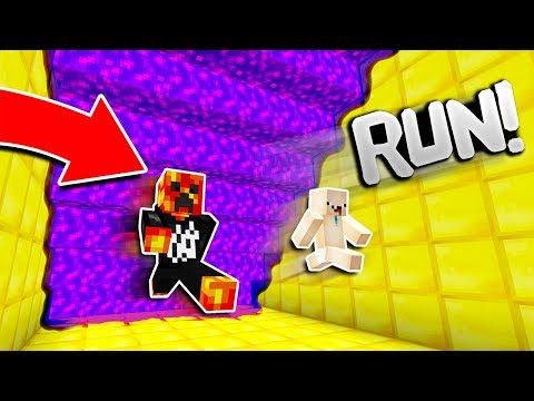 Thumbnail: Minecraft RUN FROM THE PURPLE LAVA! (Minecraft SUPER LAVA RUN)