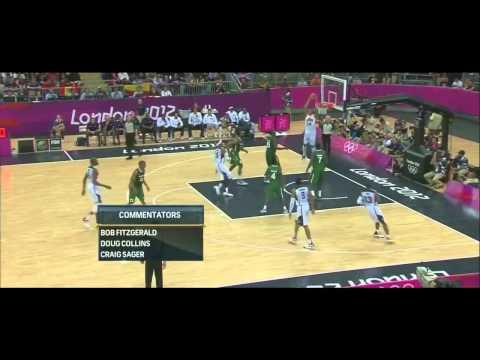 USA Highlights vs Nigeria 2012  Highlights (All Baskets) Olympic Record!