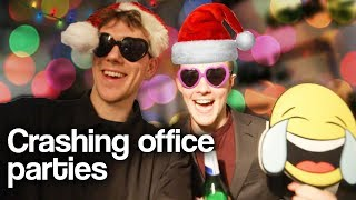 We crashed office Christmas parties in London and this happened