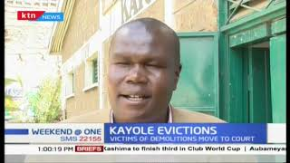 Victims of Kayole eviction moves to court to challenge court orders for eviction