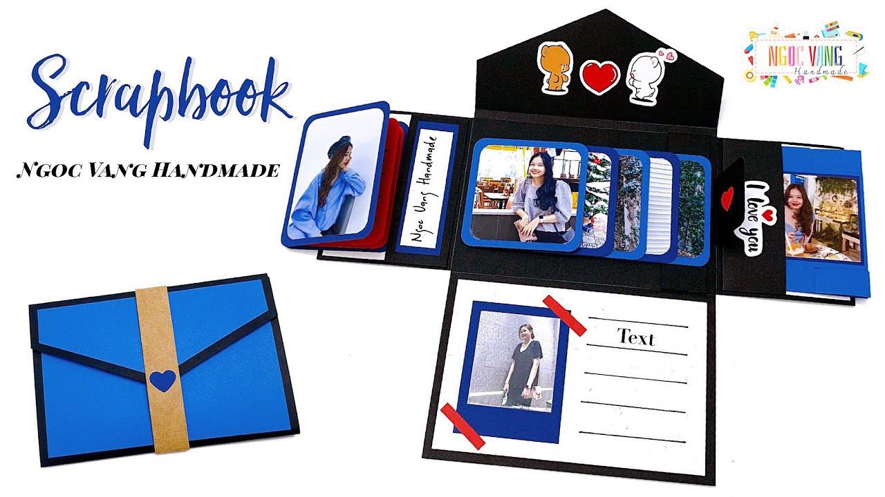 Scrapbook / LOVE CARD - Album ảnh hình bìa thư • NGOC VANG Handmade
