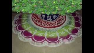 Galicha Rangoli and Fluorescent Rangoli