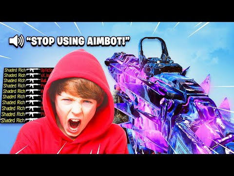 ANGRY TRASH TALKING KID WANTED A 1V1 MATCH on Black Ops 4...(AIMBOT RAGE!)