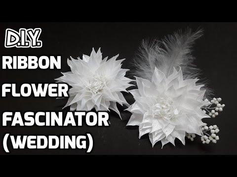 D.I.Y. Ribbon Flower Fascinator   MyInDulzens