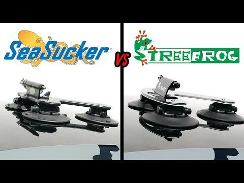 SEASUCKER TALON Vs TREEFROG PRO | SUCTION BIKE CARRIER