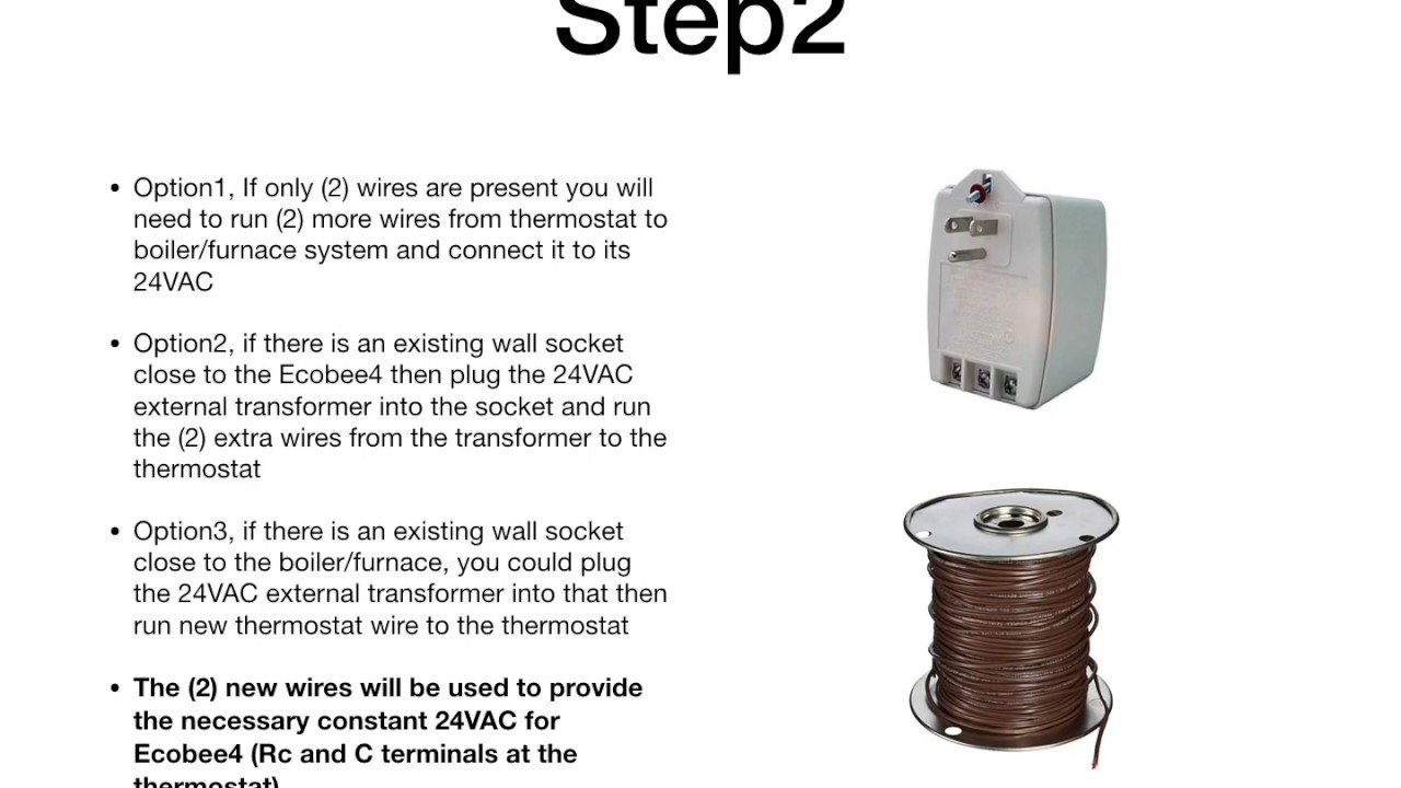 solved ecobee4 how 2 wire a heat only 2 wire system [ 1280 x 720 Pixel ]