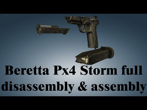 Beretta Px4 Storm: full disassembly & assembly