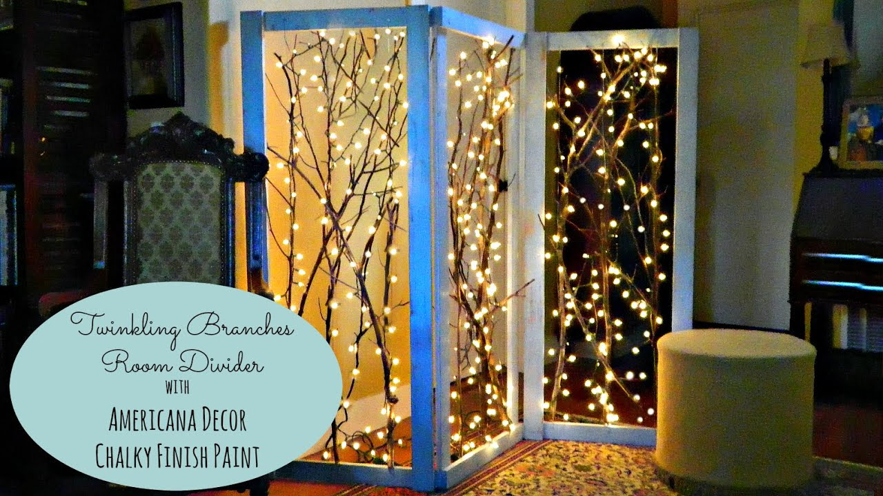 twinkling branches room divider  youtube -