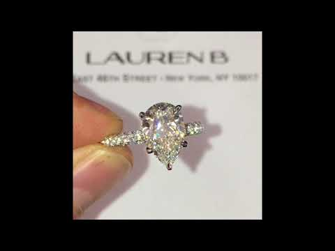 2.26 ct Pear Shape Diamond Engagement Ring