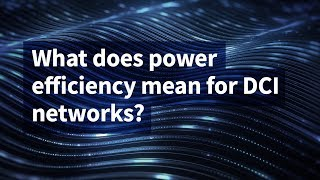 What Does Power Efficiency Mean for DCI Networks?
