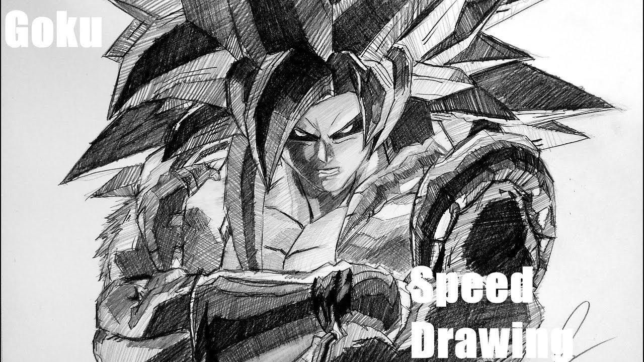 Drawing goku super saiyan 8 xenoverse version timelapse obinart