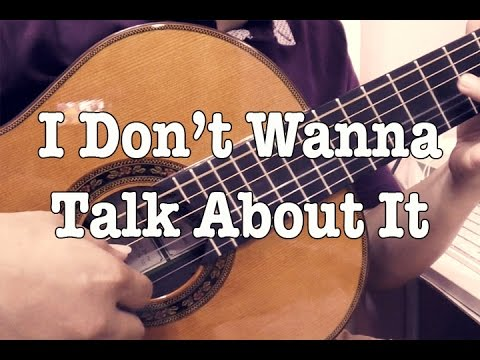 I Don't Wanna Talk About It - Rod Stewart (solo guitar cover)