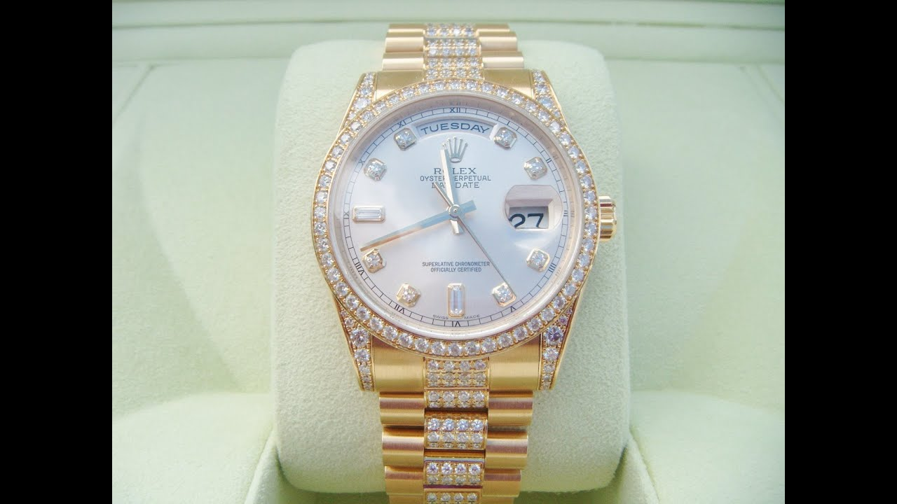 Rolex Oyster Perpetual Gold With Diamonds
