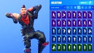 MIDNIGHT OPS SKIN SHOWCASE WITH ALL FORTNITE DANCES & EMOTES