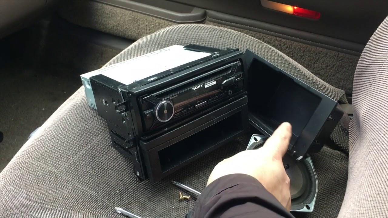 medium resolution of 1991 mazda 626 stereo install