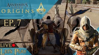 Assassin's Creed Origins Let's Play Live! Ep. 7 | Getting Closer to Scarab