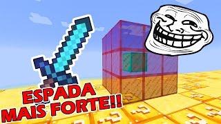 Minecraft CUBÃO : TROLLAGEM DA MELHOR ESPADA !! (MINECRAFT TROLL)