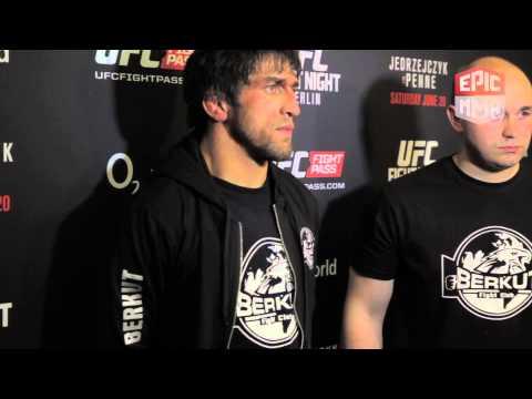 UFC Berlin Post Fight Interview   Magomed Mustafaev