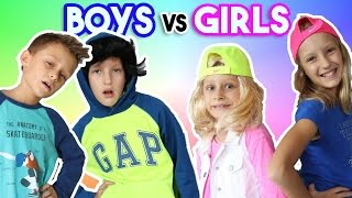 Sleepover GIRLS vs BOYS