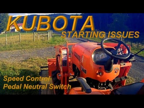 Kubota Tractor won't start   Try This
