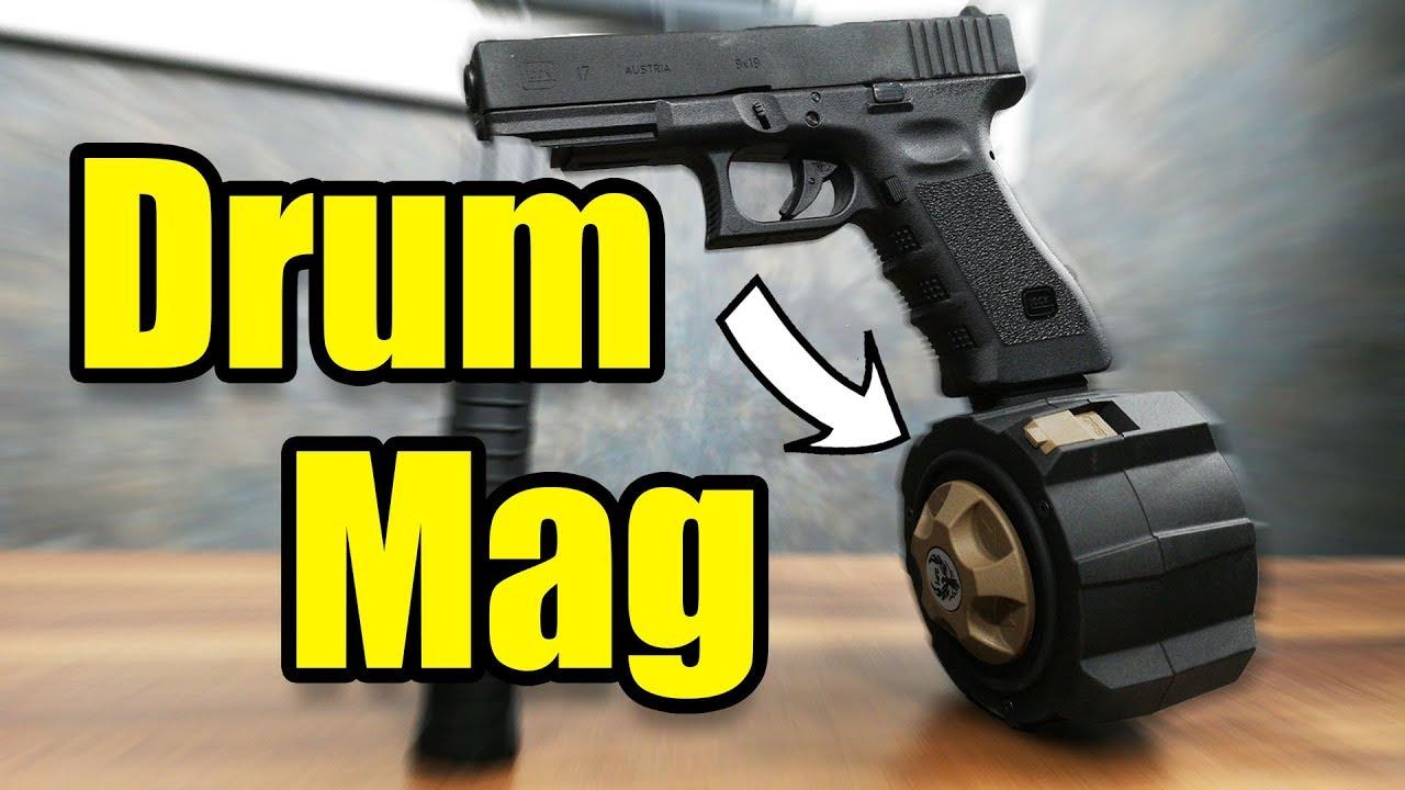 Glock Drum Mag Fur Deine Airsoft Pistole Gsp Airsoft Deutsch Youtube