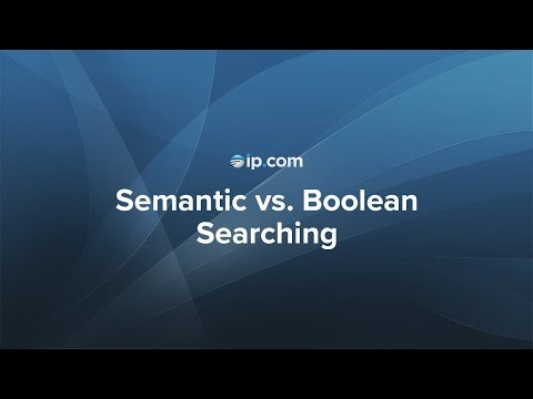Semantic vs. Boolean Searching