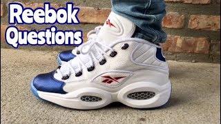 """Reebok Question Mid """"Blue Toe"""" on feet"""