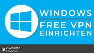 Microsoft Windows 10 - Kostenlosen Hide.Me VPN Account einrichten Tutorial