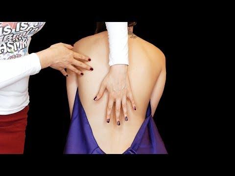 ASMR Massage & Back Tickling – Microphones in Sleeves Brushing & Sponge Sounds