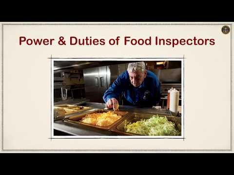 Power & Duties of Food Inspectors