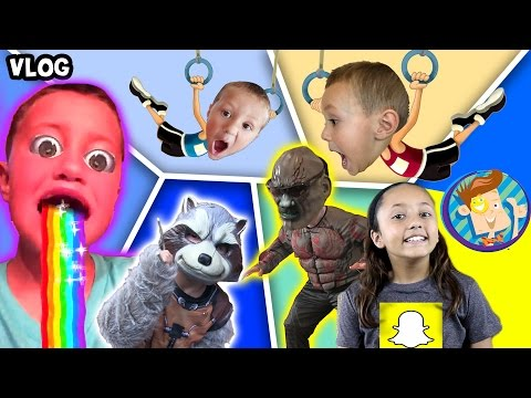 Guardians of the Galaxy Scare Cam / Chase's Twin / Snapchat Rainbow Mouth More (FUNnel Vision Vlog)