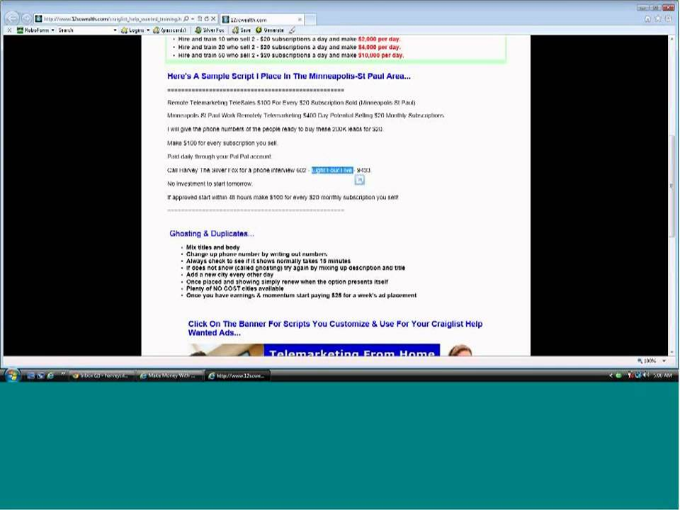 How To Place Telemarketing Work Home Help Wanted Ads On ...