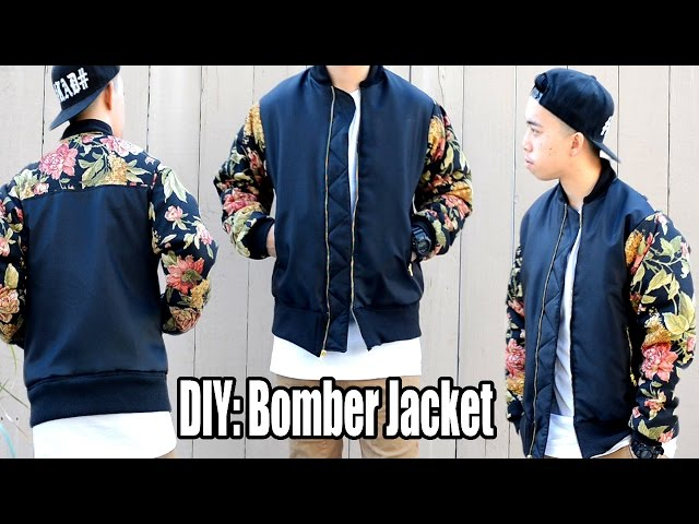 DIY: How to Make a Bomber Jacket | From Scratch 17 - YouTube
