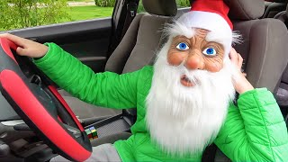Santa Claus surprise Eli 's parents with Dancing Car Ride and Christmas Presents