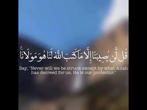 صوت رائع يريح القلب قل لن يصيبنا إلا ما كتب الله لنا هو مولانا