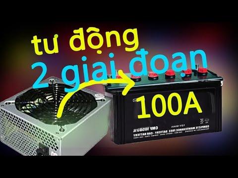 Sạc ắc Quy Tự động Ngắt 2 Giai đoạn Từ Nguồn ATX, Charge Battery With Computer Power Supply
