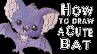 How to draw a Super Cute BAT