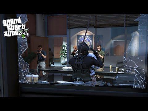 GTA 5 RESCATE OFICINAS del FBI - FIB ENTRAMOS HELICÓPTERO EdgarFtw thumbnail