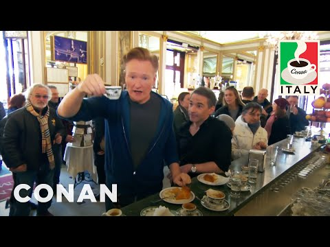 Jordan Schlansky Lectures Conan About Coffee In Naples  - CONAN on TBS