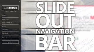 Slide Out Navigation Menu! [VOICE TUTORIAL]