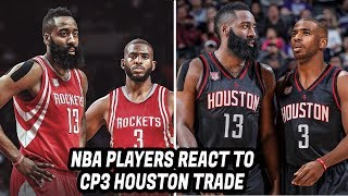 NBA Players REACT to Chris Paul Trade to the Houston Rockets!