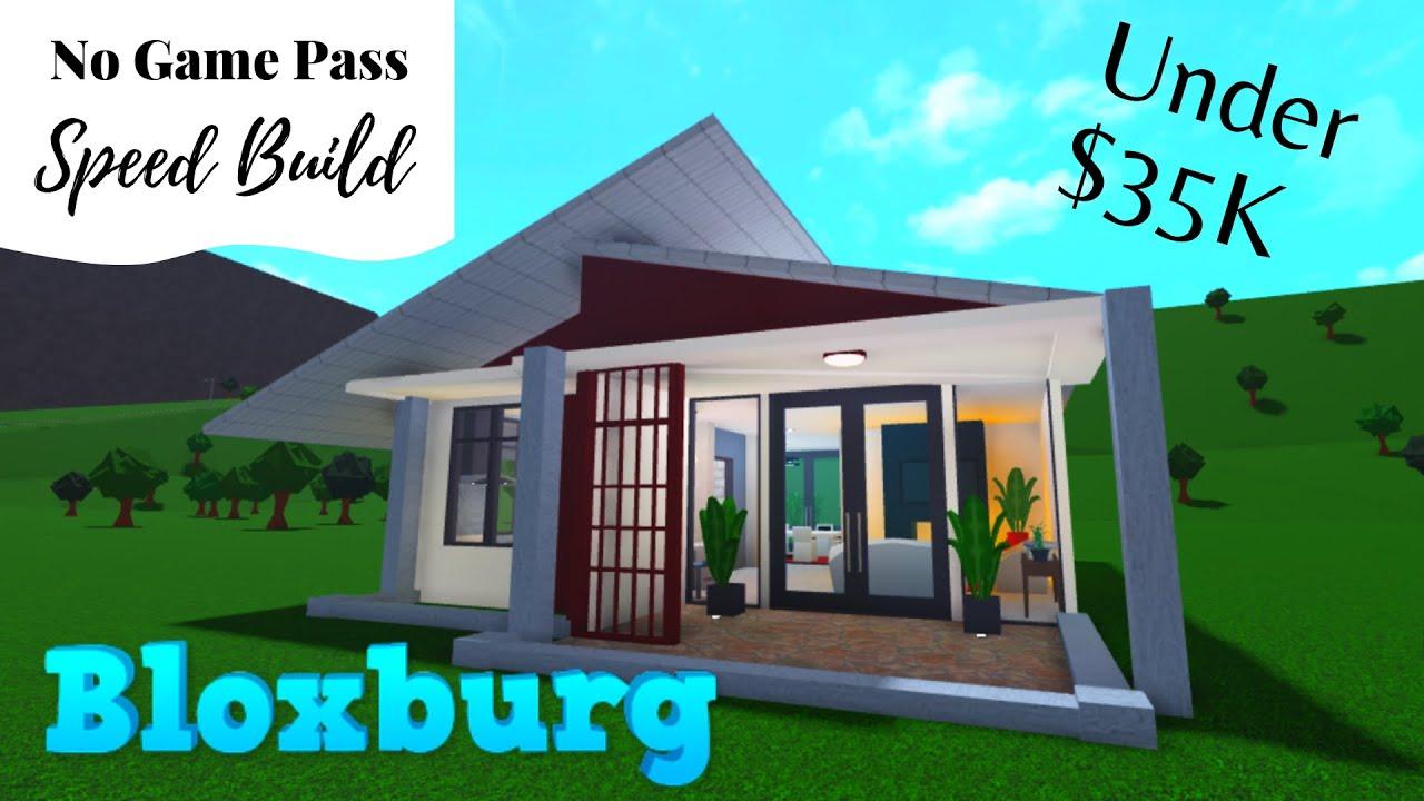 Bloxburg House Build | Bloxburg No Gamepass House | Bloxburg House Build One Story | Speed Build