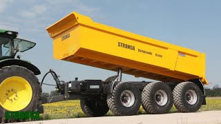 Stronga DumpLoada DL1400 trailer - An alternative solution to Articulated Dump Trucks (ADTs)
