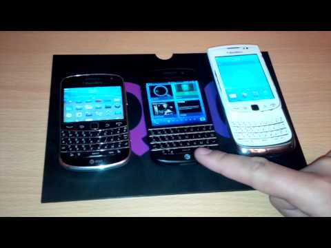 BlackBerry Q10 Compared to Bold 9900 and Torch 9810