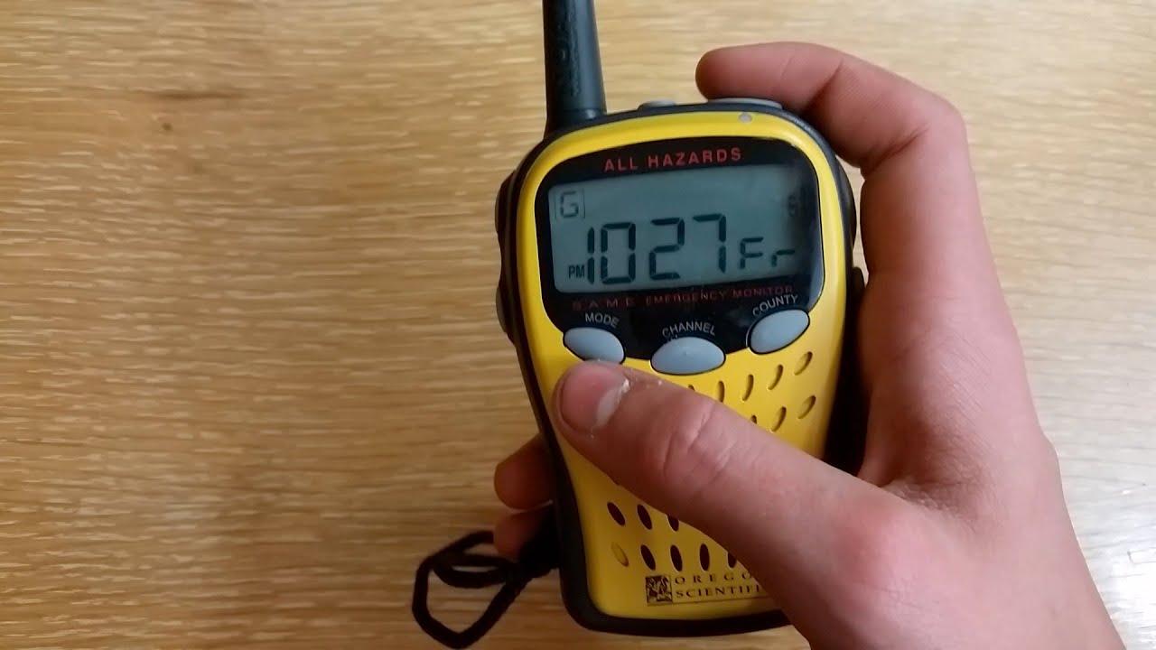 Oregon scientific portable weather band radio | ebay.