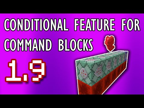 CONDITIONAL FEATURE For Command Blocks | Minecraft 1.9 Tutorial