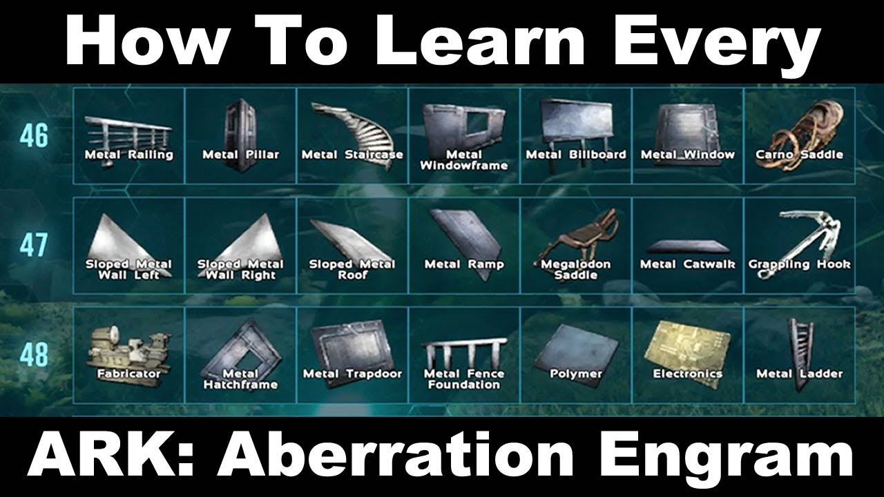 How To Learn Every Ark Aberration Engram Youtube