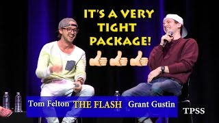 Tom Felton says to Grant Gustin, 'It's a very tight package!'  Part 1
